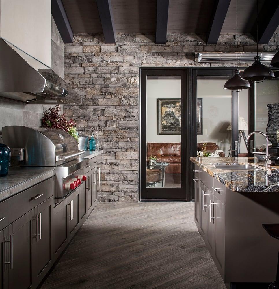 Danver stainless outdoor kitchen metallic bronze matte
