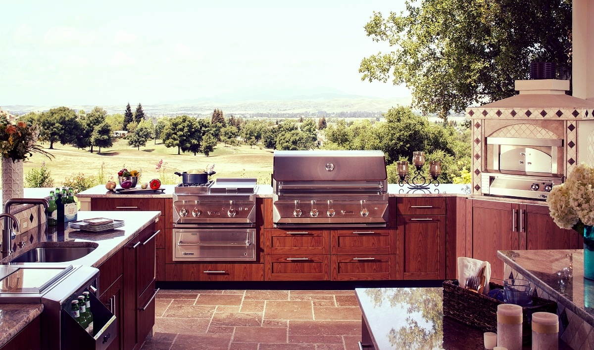 Danver stainless steel outdoor kitchen key west cherry flame