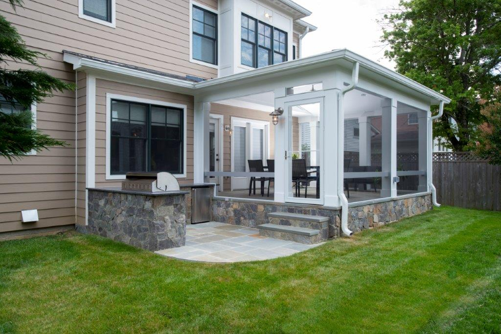 Elevated Flagstone Porch With Outdoor Kitchen (w/ Video)