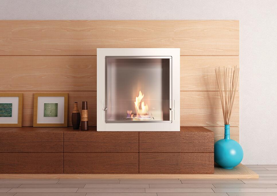 EcoSmart Fire Cube Jr biofuel firebox
