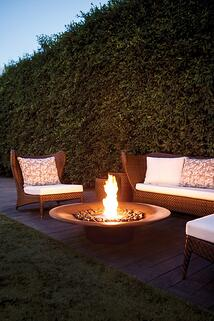 EcoSmart Ayre firepit with patio furniture