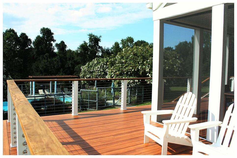 pecan zuri deck boards for white pvc trim screen porch in maryland