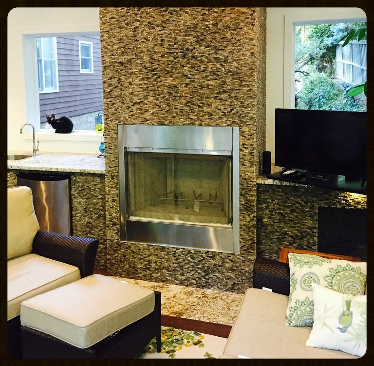 Is it safe to build an elevated wood burning outdoor for Building an indoor fireplace
