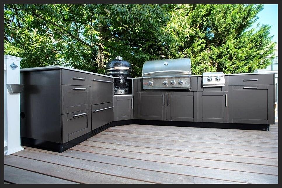 Danver stainless outdoor kitchen design with grill in maryland