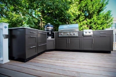 danver stainless outdoor kitchen cabinets in bethesda, maryland