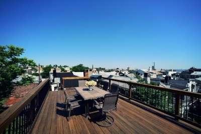 hardwood rooftop deck design in baltimore, maryland