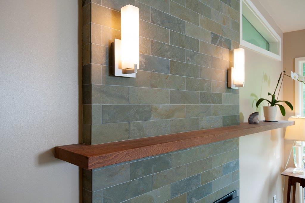 floating shelves with lighting in Bethesda, MD