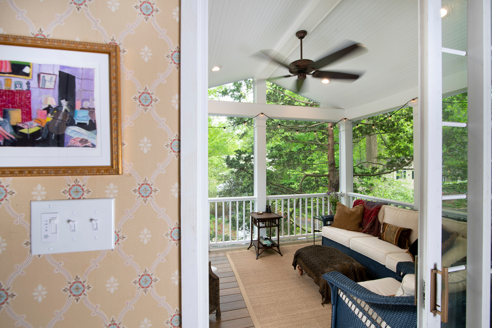 chevy chase 2 story deck screened porch. 12