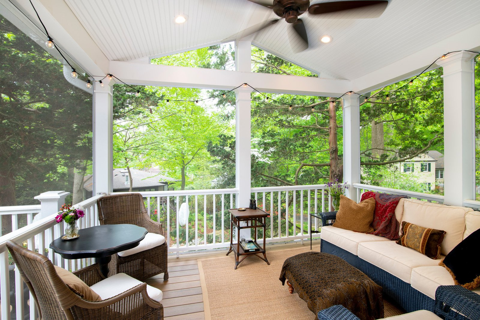 chevy chase 2 story deck screened porch. 14