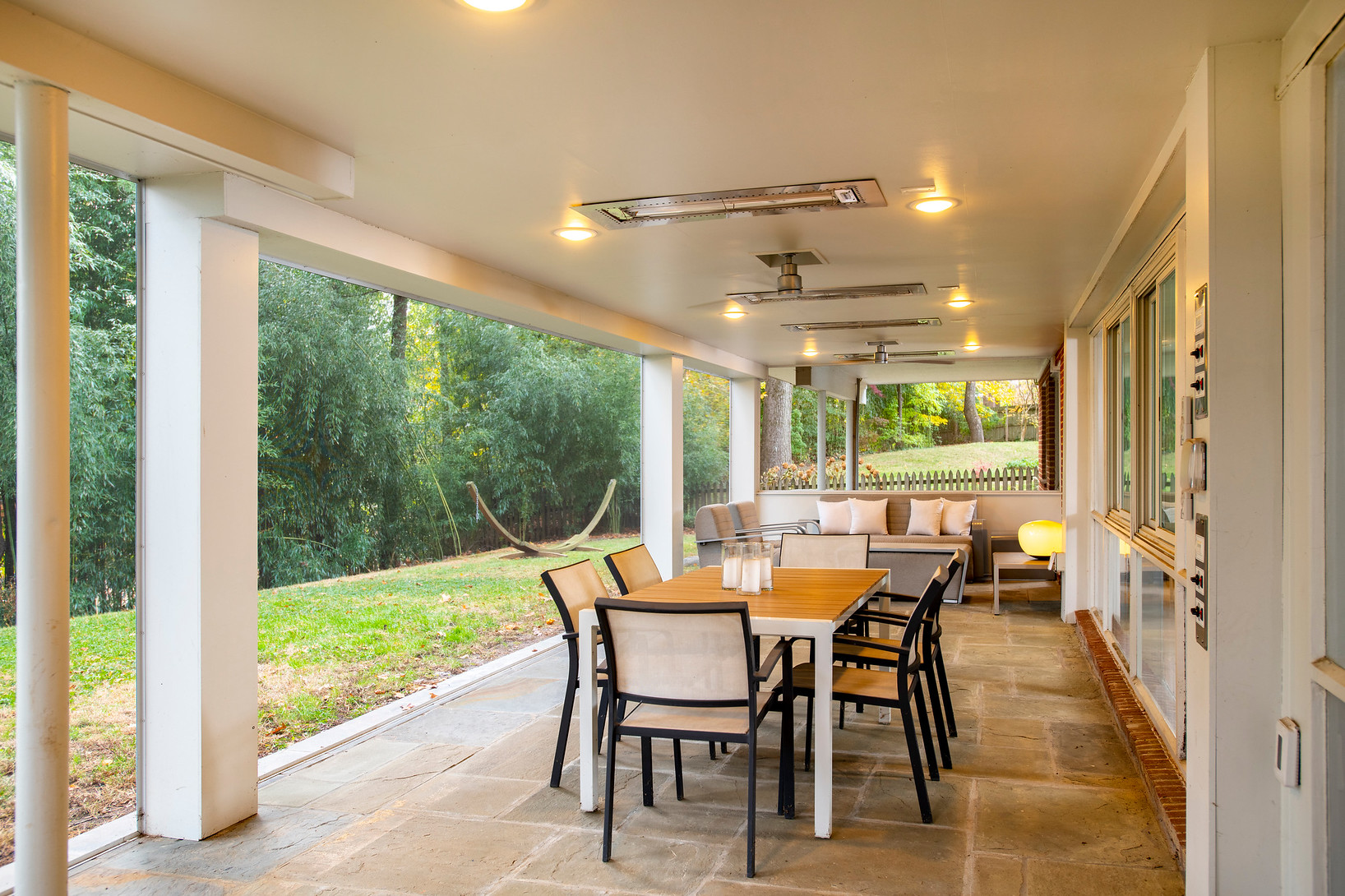 Chevy Chase screened porch