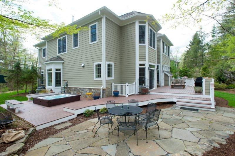 Bethesda Maryland Master Suite Remodeling: Wolf Deck, Curved Flagstone Patio & Hot Tub In Montgomery