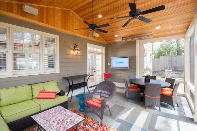 Sunbrite outdoor television designer screen room
