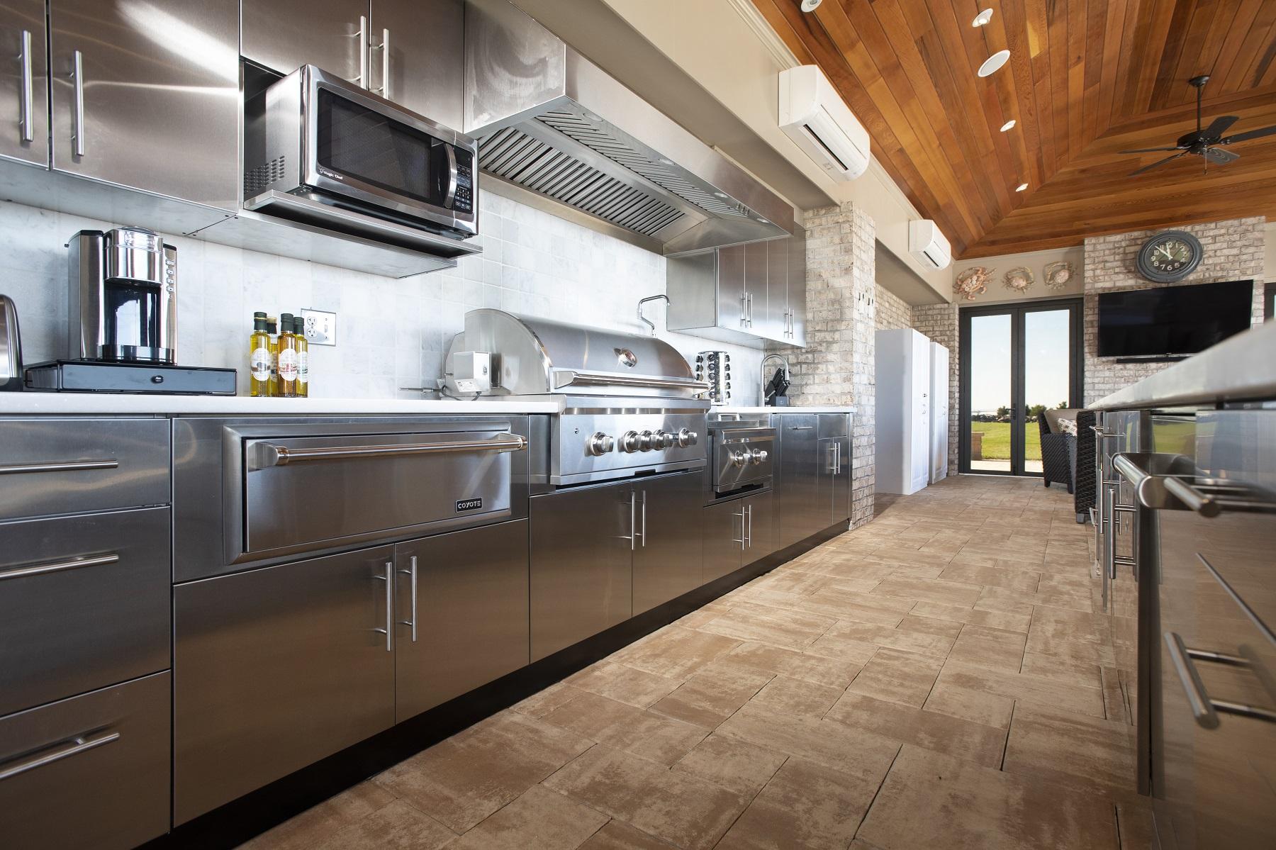 Danver Cabinets Indoor Poolhouse Kitchen Installation