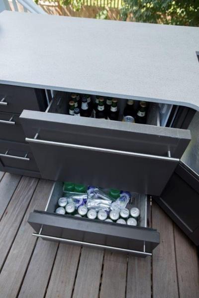 stainless steel outdoor refrigerator
