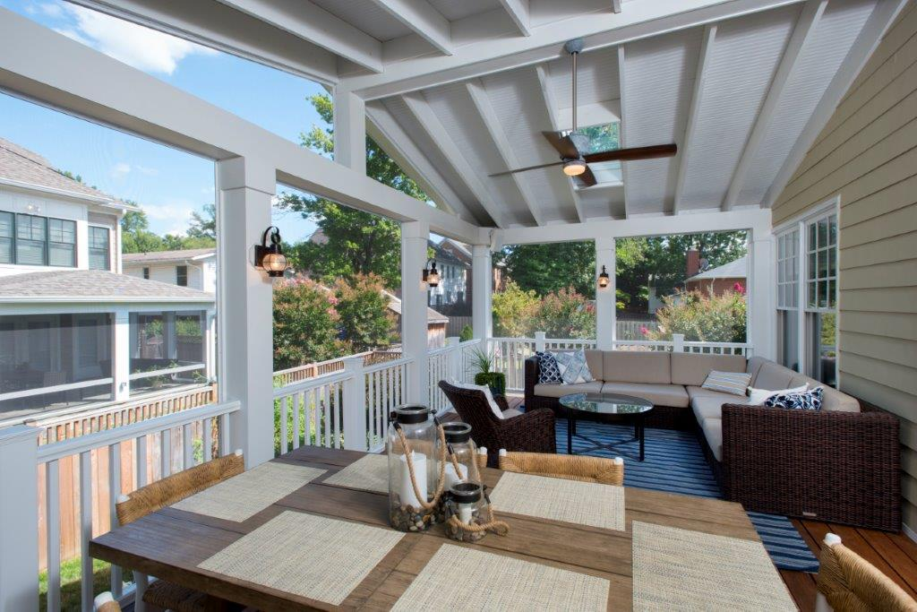 Wood Or Vinyl Railings What Is Best For A Screened Porch