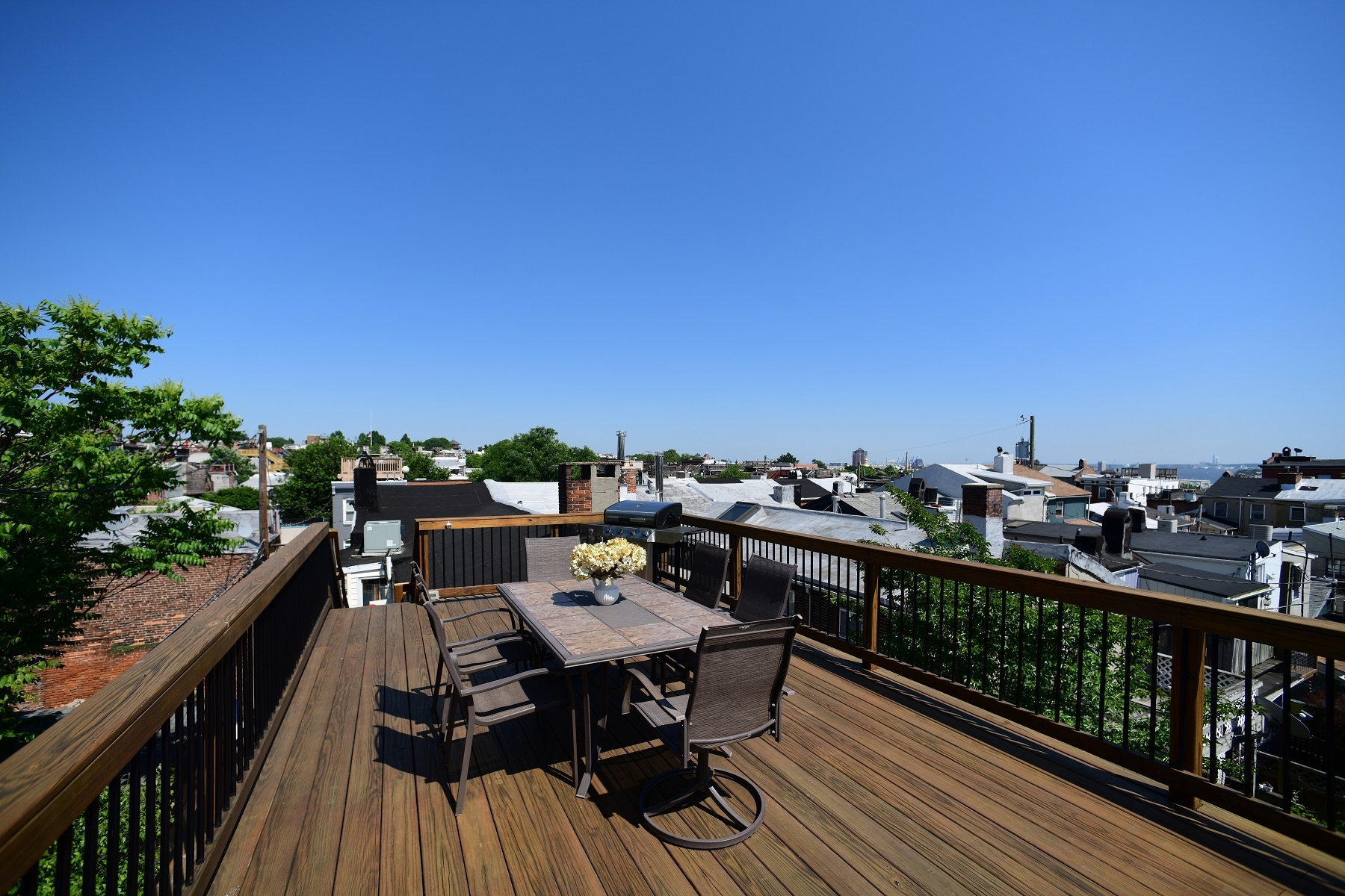 Custom Rooftop Deck Design In Fells Point Baltimore Maryland