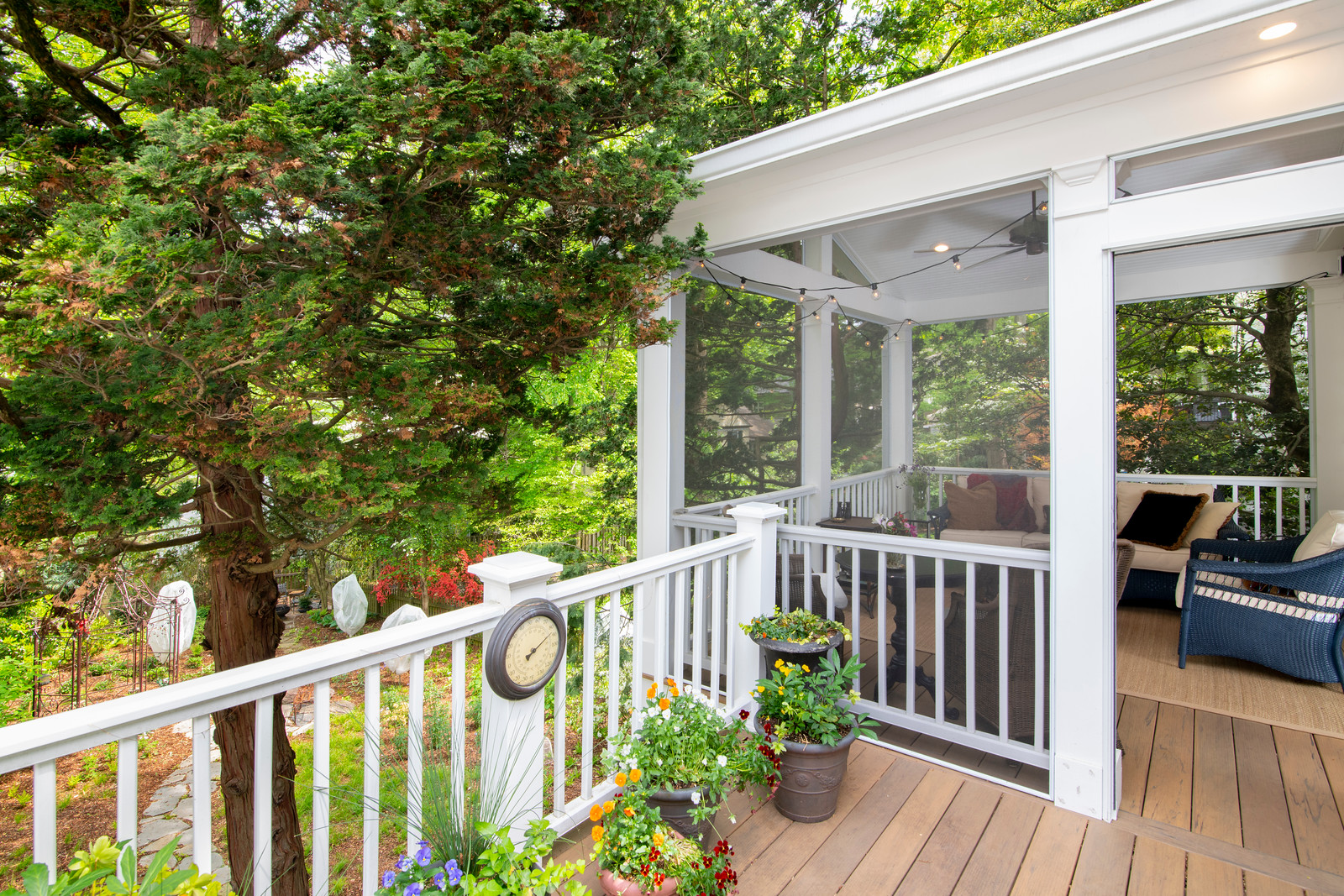 chevy chase 2 story deck screened porch. 9